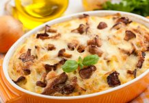 Mushroom and Potato Breakfast Casserole- cook for your life- anti-cancer recipes