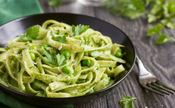 Pasta with Greek Yogurt, Peas and Fava Beans- cook for your life- anti-cancer recipes
