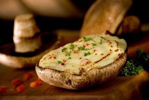 Personal Portobello Buffalo Chicken Pizza Recipe Image