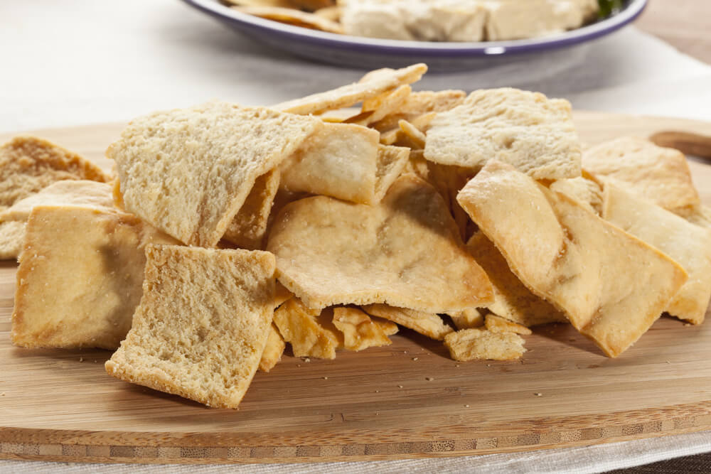 Baked Whole Wheat Pita Chips- anti-cancer recipes- cook for your life