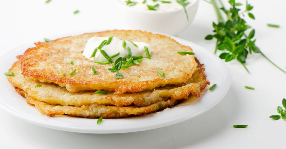 potato chive cake- cook for your life- anti-cancer recipes