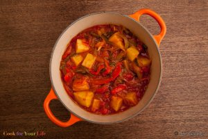 Potato & Pepper Stew Recipe Image