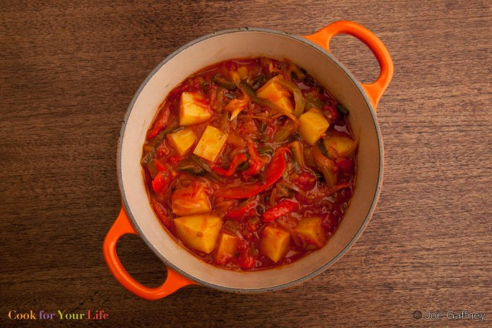 Potato & Pepper Stew- sabor latino-cook for your life-anti cancer recipes