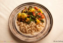 Potato & Spinach Curry- cook for your life- anti cancer recipes