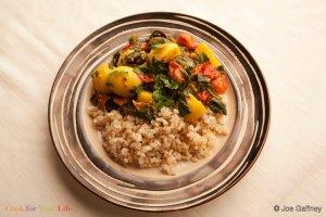 Potato & Spinach Curry Recipe Image
