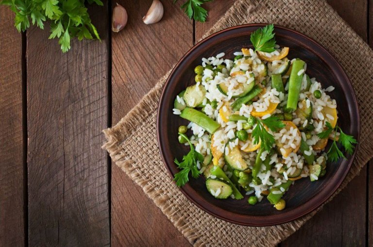 Risotto con verduras de verano Recipe Image