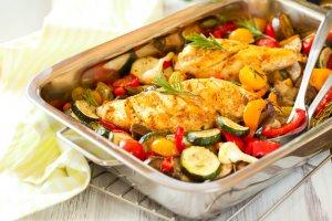 Pan Roasted Rosemary Chicken & Cauliflower Recipe Image