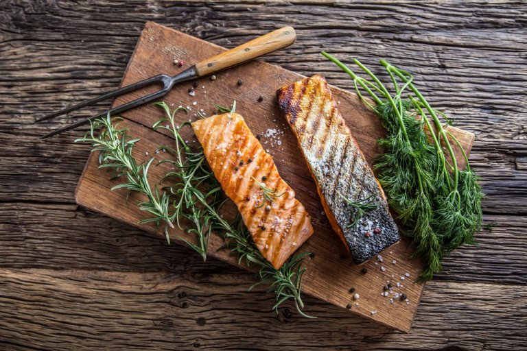 Sheet Pan Roasted Dill Salmon Fillets Recipe Image