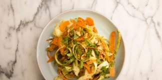 shredded parsnip and carrot slaw- cook for your life- anti-cancer recipes