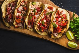 Al Pastor Shrimp Tacos Recipe Image
