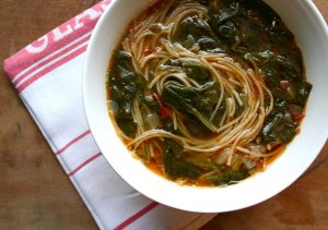Sicilian Greens & Tomato Soup Recipe Image