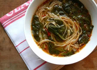 Sicilian Greens & Tomato Soup- anti- cancer recipes- cook for your life