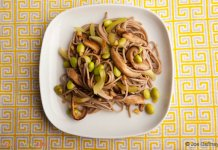 soba, noodles, mushrooms, celery, ginger, lime- Soba Noodles with Mushrooms and Celery- anti-cancer recipes- cook for your life