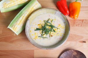 Spiced New England Style Corn Chowder Recipe Image