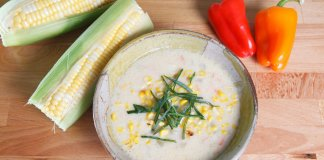 Spiced New England Corn Chowder- cook for your life- anti-cancer recipes