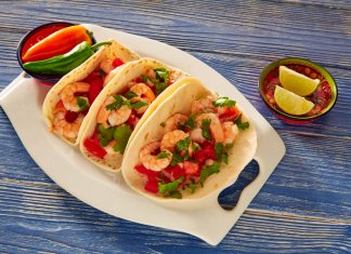 Spicy Shrimp tacos- cook for your life- anti-cancer recipes