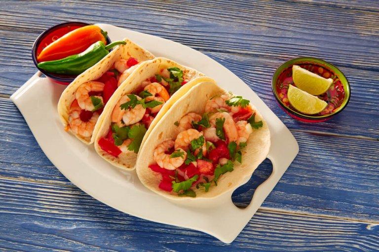 Spicy Baja-Style Shrimp Tacos Recipe Image
