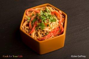 Spicy Peanut Soba Noodles Recipe Image