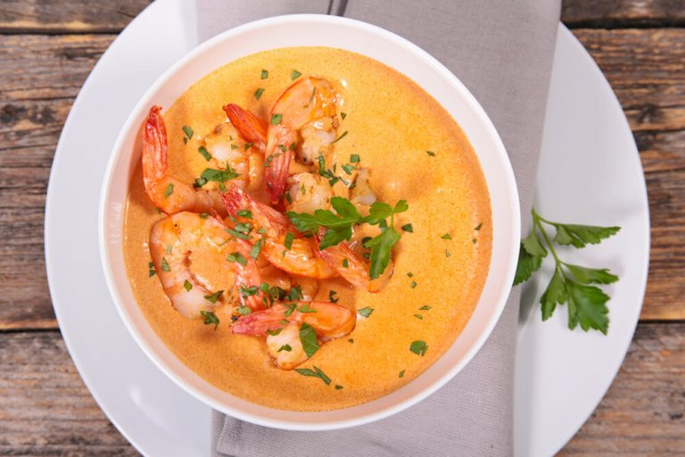 Spicy Shrimp and White Bean Soup Recipe Image