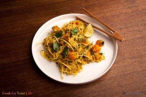 Squash Coconut Curry Noodles Recipe Image