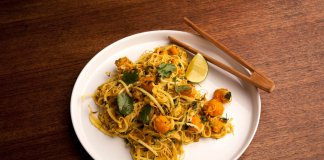 Squash Coconut Curry Noodles - Cook For Your Life- anti-cancer recipes