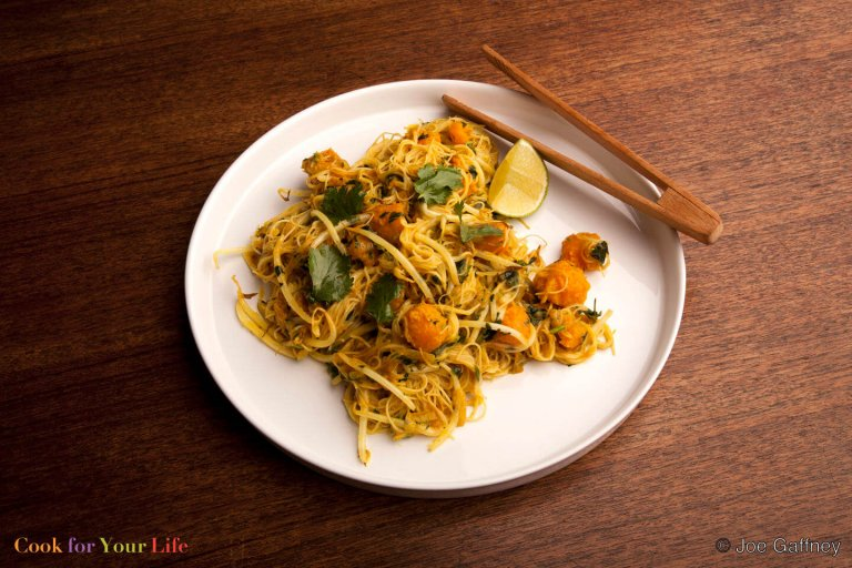 Squash Coconut Curry Noodles Recipe Image