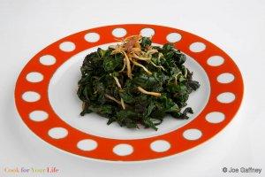 Stir Fried Kale with Ginger Recipe Image
