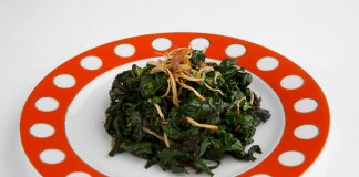 Stir Fried Kale with Ginger - Cook For Your Life- anti-cancer recipes