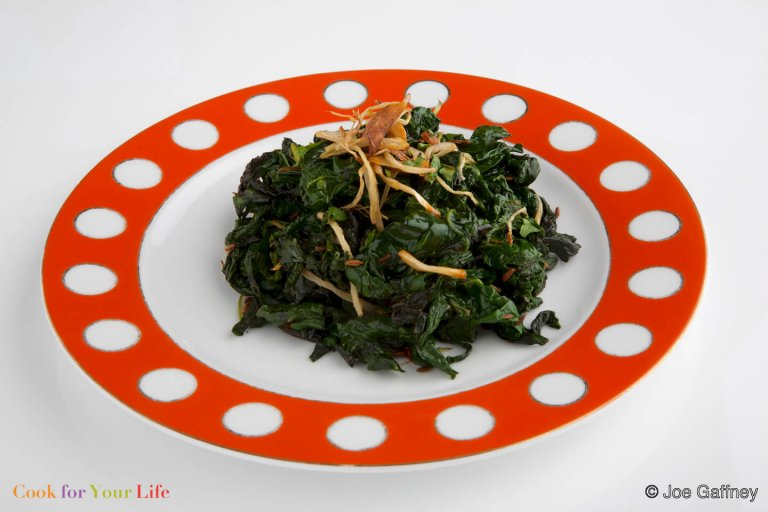 Stir Fried Kale with Ginger Recipe Image