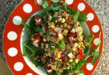 summery farro salad anti-cancer recipe- cook for your life