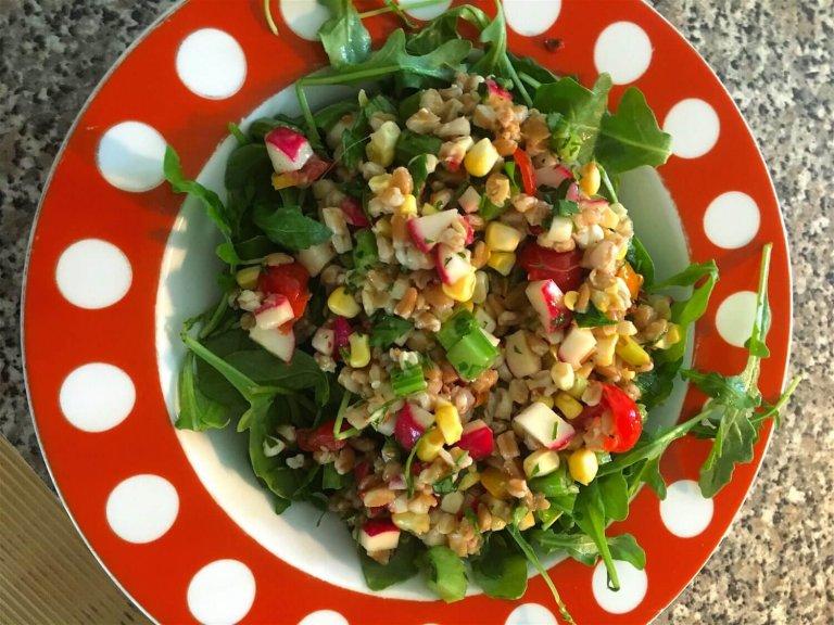 Summery Farro Salad Recipe Image