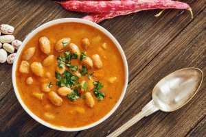 Tangy Sweet Potato & Cannellini Bean Soup Recipe Image