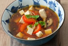 Tofu Soup- cook for your life- anti-cancer recipes