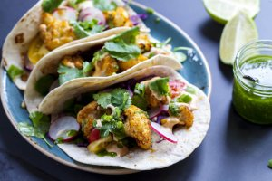 Roasted Fall Veggie Vegan Tacos Recipe Image