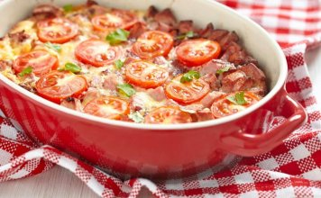 Chicken Sausage & Vegetable Breakfast Casserole- anti-cancer recipes- cook for your life