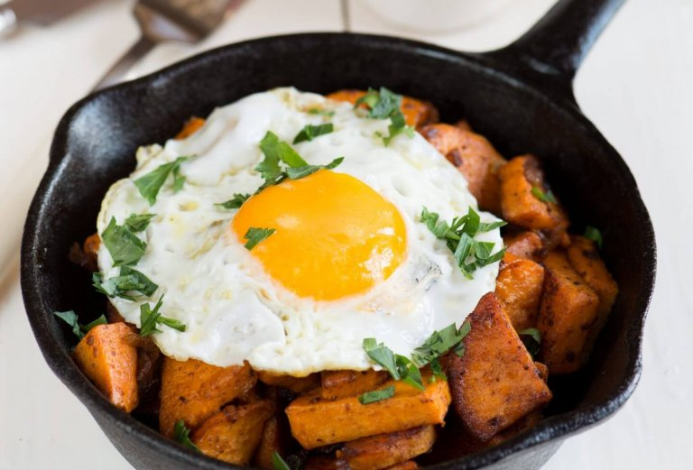 Vegetarian Sweet Potato Hash Recipe Image