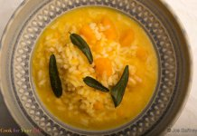 squash, risotto, chicken broth, anti-cancer recipe-Winter Squash Risotto- cook for your life