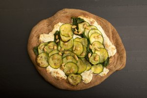 Pizza de calabacín y ricota Recipe Image