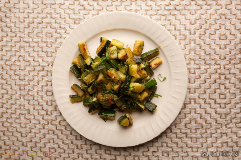 Zucchini with Mint Recipe Image
