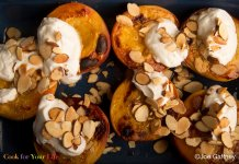 Broiled Peaches with Ginger Yogurt- cook for your life- anti-cancer recipes
