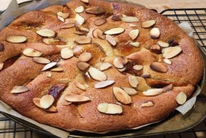 Caramelized Apple Almond Cake with Ginger Recipe Image