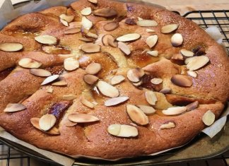 caramelized apple almond cake - tarta de manzanas y almendras - anti-cancer recipes - Cook for your life