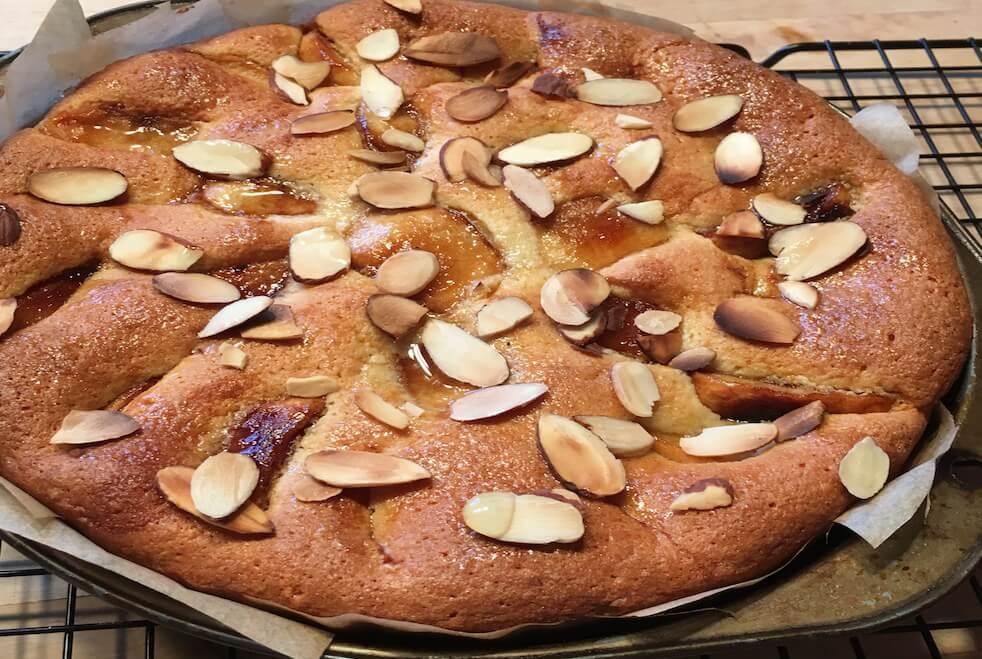 caramelized apple almond cake - tarta de manzanas y almendras - anti-cancer recipes - Cook for your life