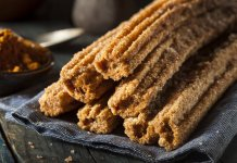 Baked whole wheat Churros with Chocolate Sauce-cook for your life- anti-cancer recipes