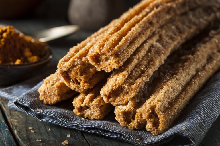 Baked Whole Wheat Churros with Chocolate Sauce Recipe Image