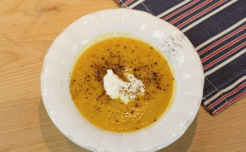 gingery carrot and lentil soup- anti-cancer recipes - cook for your life