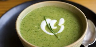 Cauliflower & Collard Soup- anti-cancer recipes- cook for your life