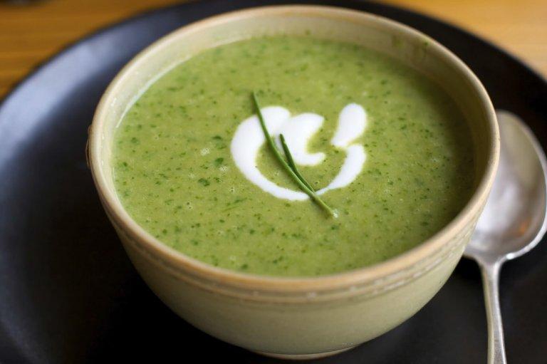 Cauliflower & Collard Soup Recipe Image