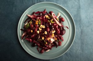 Red Winter Salad with Beets and Hazelnuts Recipe Image