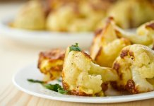 roasted cauliflower with lemon and capers- cook for your life- anti-cancer recipes